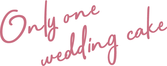 Only one wedding cake
